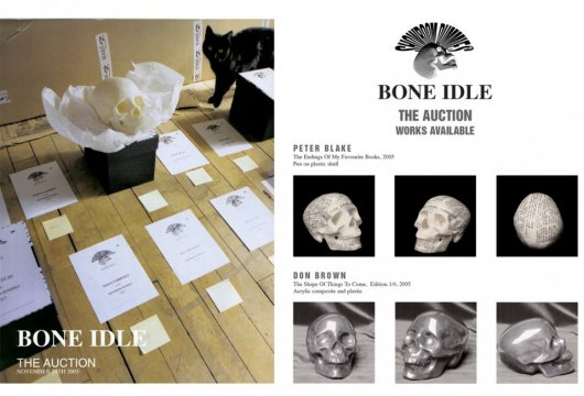 Bone Idle auction pamphlet cover